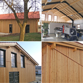 Produktionshalle aus Holz